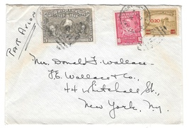 Haiti Airmail Cover 1949 Port au Prince to US Exposition backstamp RA10 ... - $7.99