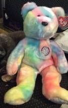 "Ty Beanie Buddies Happy Birthday Multi-Color Bear 14"" - $19.79"