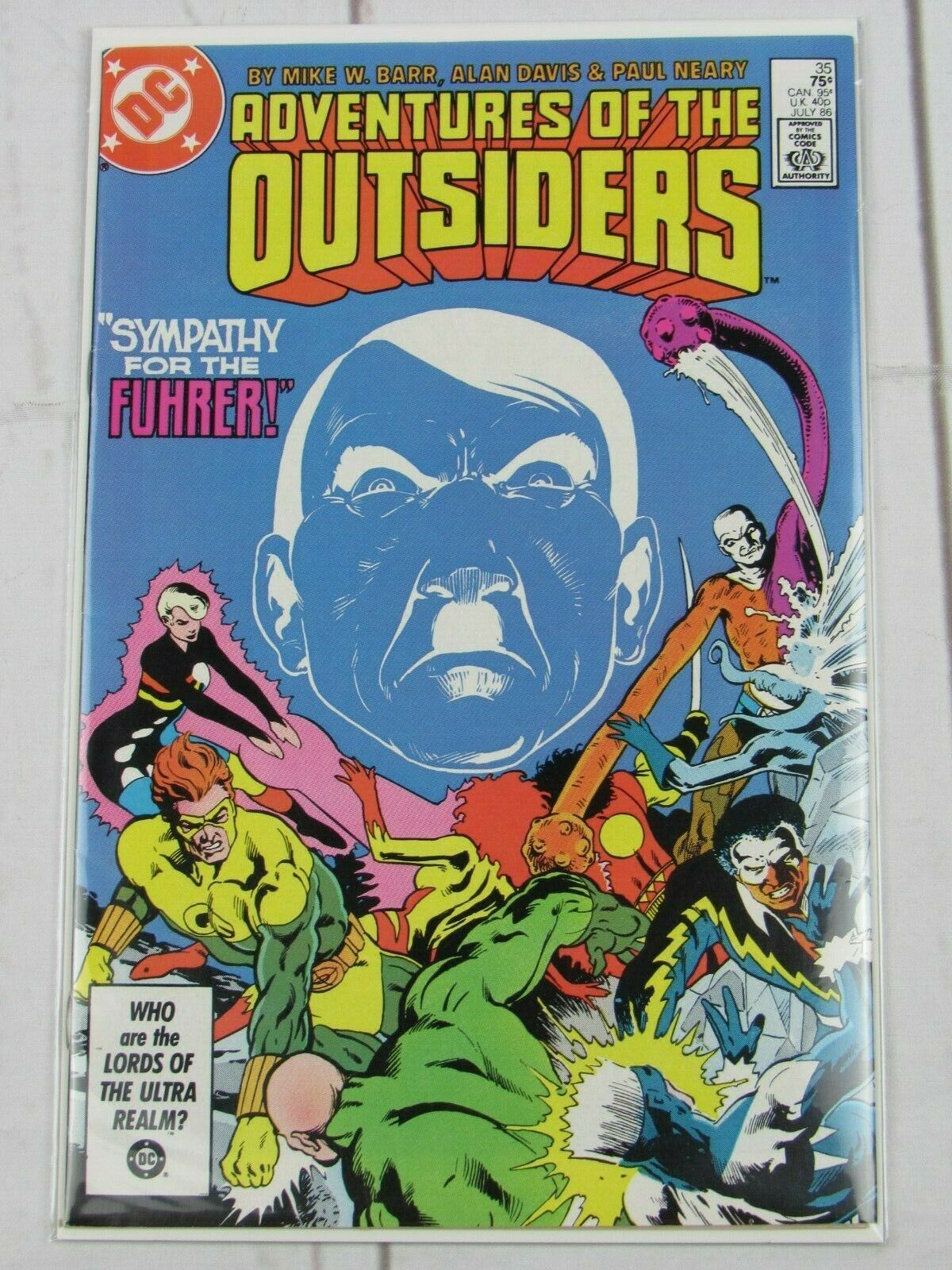 ADVENTURES OF THE OUTSIDERS  # 35 DC COMIC 1986 - C4644