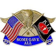 United States American KIA Eagle Some Gave All Belt Buckle - $15.14