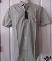 Van Heusen® Short-Sleeve No-Iron Woven Shirt Olive Swamp  Sz.  L NWT MSR... - $22.06
