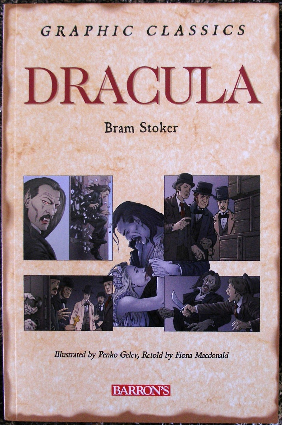 Primary image for Dracula Brams Stoker Graphic Classics Barron's Brand New 2007 Gelev, Macdonald