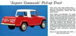 1967 Jeep Jeepster Commando Pick-Up Truck - Promotional Advertising Poster - $9.99+
