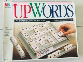 Vintage UPWORDS A 3 Dimensional Word Game By Milton Bradley 1988 Family Fun  - $20.00