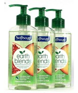 3 Bottles Softsoap 8 Oz Earth Blends Pomegranate & Plum Moisture Hand Soap - $26.99