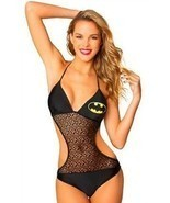Batgirl Bat Mesh Triangle Monokini 1 Piece Dc Comics Batman Logo Bathing... - ₹3,200.26 INR