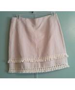NWT Ann Taylor LOFT ~ Women's 10 Large Cotton Linen Fringe Skirt - $36.61