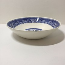 "Round vegetable Bowl Blue Willow Homer Laughlin 8.75"" O63N4 - $12.59"