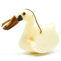 Hand Carved Tagua Nut Carving Swan Goose Bird Hanging Ornament Made in Ecuador