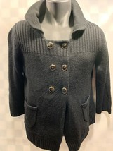 Ann Taylor LOFT Black Button Front Cardigan Sweater Women's Size M - $12.46