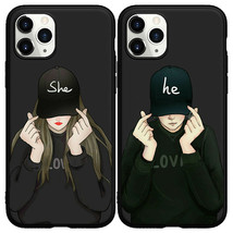 Hip Hop Couple Boy Girly Silicone Phone Case for iphone 11 Pro Max XS XR 6 7 8+ - $7.99