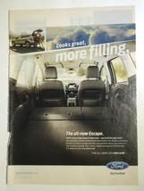 Ford Escape Automobile Print Ad 2012 New Yorker Magazine Car Advertising Photo - $9.95