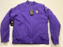 M73 NIKE Minnesota Vikings Bomber Purple Winter Coat Jacket MEN'S - $134.95