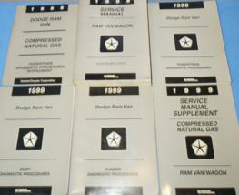 1999 Dodge RAM Furgone Wagon Servizio Negozio Riparazione Manuale Set W - $49.45