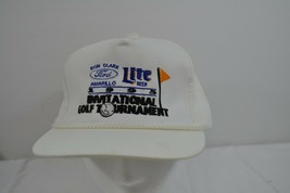 Ron Clark Ford 1995 Invitational Golf Tournament White Lite Beer Leather... - $19.35