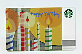Starbucks Coffee 2010 Gift Card Happy Birthday Candles Zero Balance No V... - $11.27