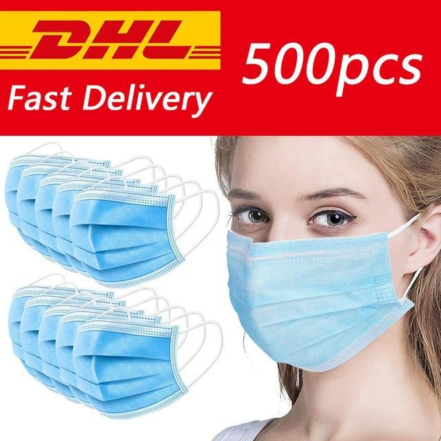 Disposable Dustproof Surgical Face Mouth Masks Face Mask Anti Virus Influenza -