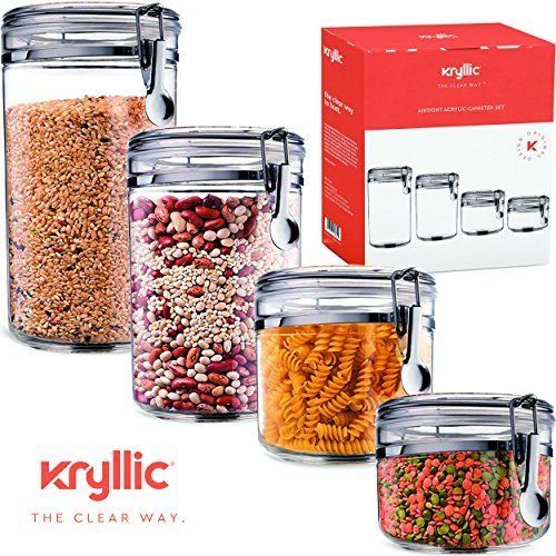 Food storage containers canister set cereal and 26 similar items s l1600 workwithnaturefo