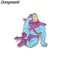 Skeletor He Man Enamel Pin Brooches Cartoon Creative Metal Brooch Pins Denim Hat - $10.99