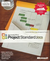 Microsoft Office Project Standard 2003 Full Retail ACADEMIC PRICE - $19.80