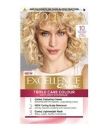 L'Oreal Excellence 10 NATURAL BABY BLONDE Permanent Hair Dye Colour LIGH... - $17.89