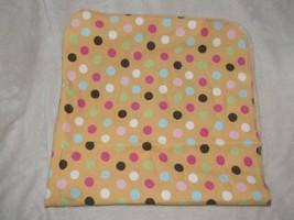 Circo Baby Girl Cotton Flannel Receiving Blanket Pink Tan Brown Circle Polka Dot - $19.79