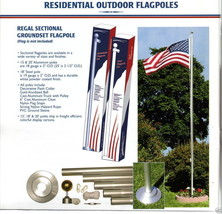 18 FT.STEEL FLAGPOLE W/(1) 3'x5' U.S FLAG & (4) U.S. CAR ANTENNA  FLAGS - $228.00