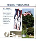18 FT.STEEL FLAGPOLE W/(1) 3'x5' U.S FLAG & (4) U.S. CAR ANTENNA  FLAGS - $228.00