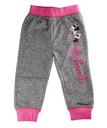 Disney Store Girls Minnie Mouse minnie Signature fashion Sweatpants, Gray - $20.02