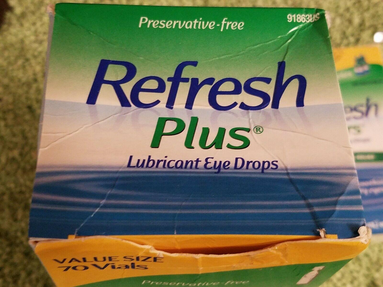 Refresh Plus Eye Drops Moisturizing Relief 70 Vials+Refresh Tears 2 X 10ml