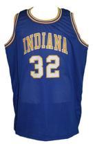 Reggie Harding #32 Indiana Aba Basketball Jersey Sewn Blue Any Size image 4