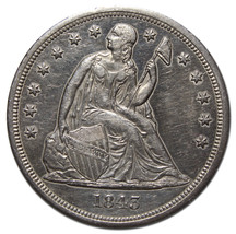 1843 Seated Liberty Silver Dollar $1 Coin Lot# MZ 3757 - $696.21