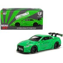 Nissan GT-R (R35) Type 1 LB Works LibertyWalk Light Green - $43.05