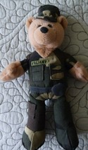 """Army Plush Collectible Stuffed Bear -'Valiant' Limited Treasures 9"""" - $7.51"""