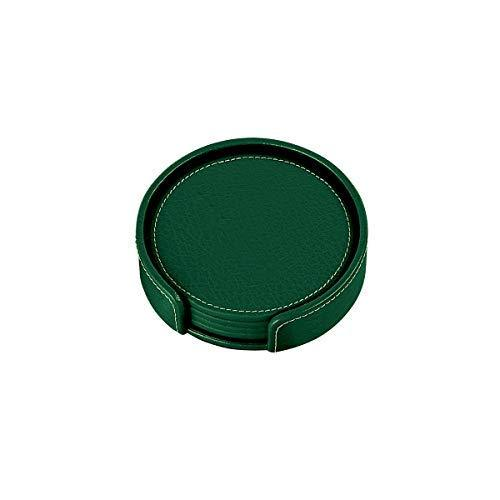 Primary image for Monogram Online Coasters, Leather Set of 4, Green