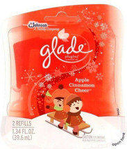 1 Glade Apple Cinnamon Cheer Scented Oil Plugins Refills 2 Refills Per Pack - $11.99