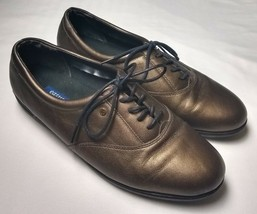 Easy Spirit Anti Gravity Womens Oxford Bronze Leather Shoes Size 10 B - $30.22 CAD