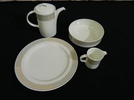 Lot of 4 Mikasa Intaglio Tracings Pieces Coffee/Tea Pot Serving Bowl, Pl... - $89.00