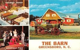 GREENSBORO North Carolina NC   THE BARN~Dinner Theatre ROADSIDE ca1960s ... - $9.81