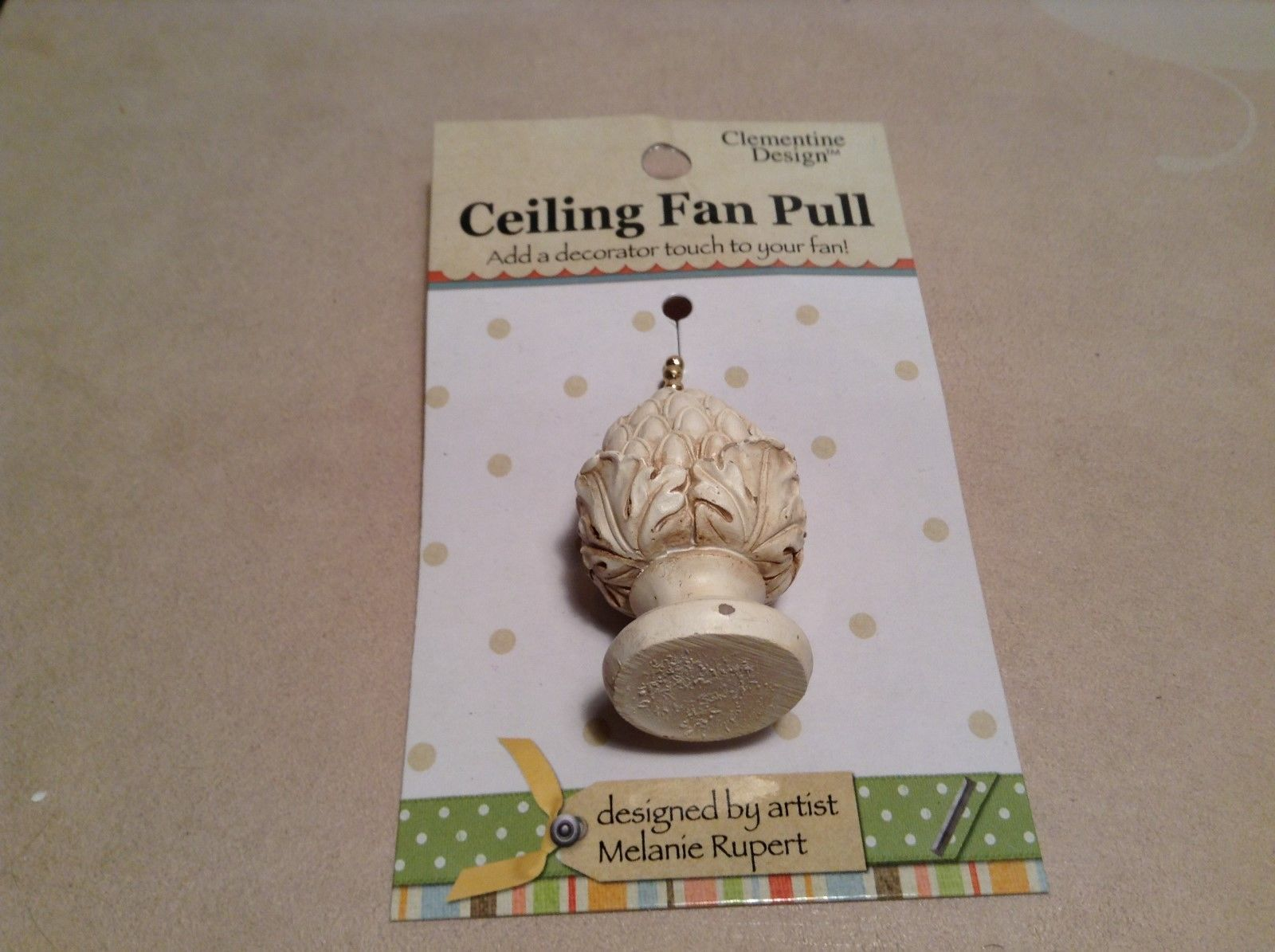 NEW Clementine Design Roman Plant Statue Ceiling Fan Pull