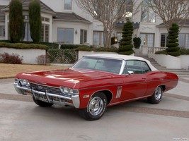 1968 Chevy Impala SS 427 Convertible red | 24 x 36 INCH POSTER - $18.99