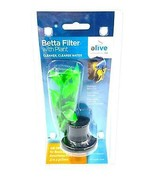 Elive Betta Filter with Natural Plant Air Operated Bowls Small Aquariums... - $14.99