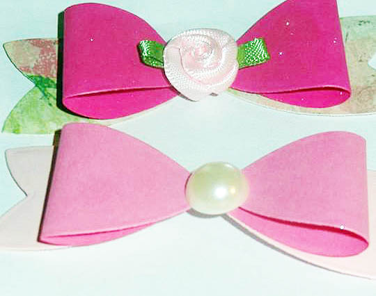 (15)pieces Die cut Bows~pastel and floral colors~ Embellished bows
