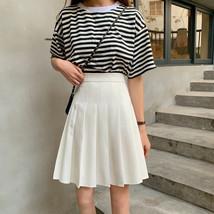 White Pleated Skirt White Pleated Tennis Skirt Plus Size White Skirt High Waist image 2