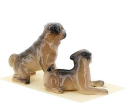 Hagen Renaker Dogs Pug Mama and Baby Tan Ceramic Figurine image 7