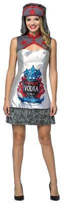 Vodka Womens Dress Costume Adult Russian Alcohol Halloween Party Unique GC7599