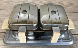 Vintage Manning Bowman Double Waffle Iron 2625 725 Watts Needs Cord Test... - $58.04
