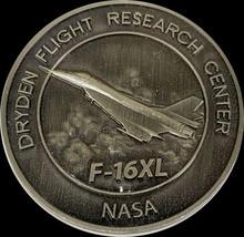 NASA DRYDEN FLIGHT RESEARCH F-16XL FLOWN METAL FROM AIRCRAFT MEDALLION - $45.99