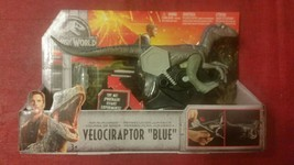 Jurassic World Fallen Kingdom Mattel Velociraptor Blue Rip and Run Dinos NIB - $22.90