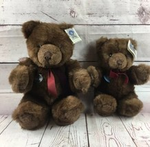 "Vintage Gund Chocolate Truffle Bear 16"" & 12"" 1983 Collectors Classic Lot Nwt - $74.24"